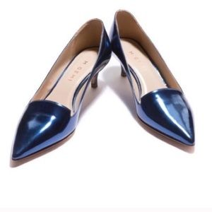 M. Gemi Tesoro Kitten Heel Pointed Toe Leather